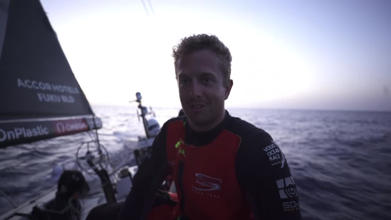 Lucas talks about how close the racing is. Constantly learning. Bleddyn talks about how America's Cup experience helps one deal with adversity.
