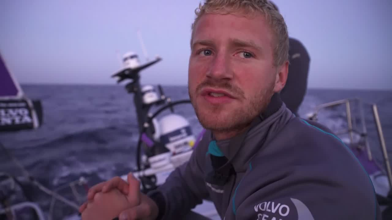 "Nicolai just before dawn: ""We're still chasing Dongfeng down a little bit. But they're doing a good job staying between us and Lisbon... We just hope we have enough runway to make it work... It's a drag race from here to Lisbon. To pass them, they need to do a mistake or we need to be a little bit lucky."""