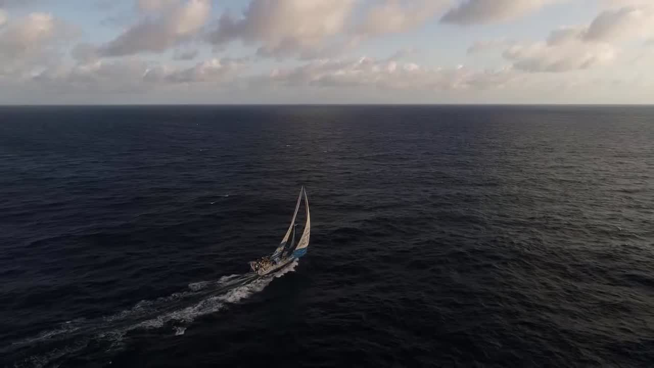 Drone shots of TTToP sailing in the afternoon.