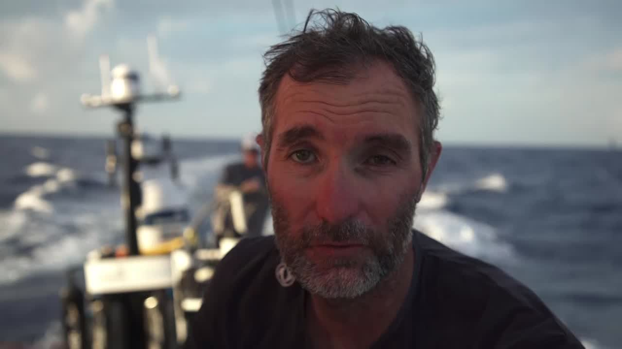 "Jérémie talks about his experience in solo racing, Figaro, IMOCA, Vendée Globe. ""Nothing is going to surprise me, because sailing solo you have to do everything on board. So I'm afraid of nothing, and I like racing and being at sea."" Talks about how it's the only around the world race in a one-design boat, causing pressure all the time. Also, how as a solo sailor he wants to do everything, not just one specialized role."